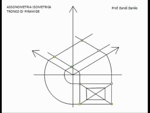 Assonometria isometrica tronco di piramide
