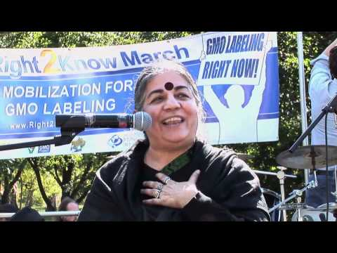 Dr. Vandana Shiva and Elizabeth Kucinich Speak Against GMO Food at Lafayette Park, October 16, 2011