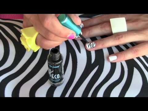 How To - Zebra (animal print) nail art