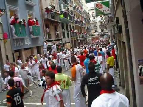 Viendo encierro de San Fermín desde dentro