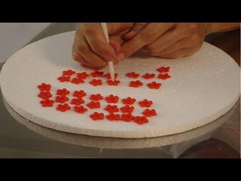 Decoração de Bolos - Flores de Pasta Americana - Especial