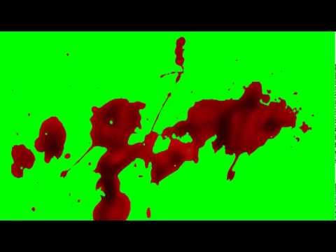 Blood Splatter (Green Screen HD)