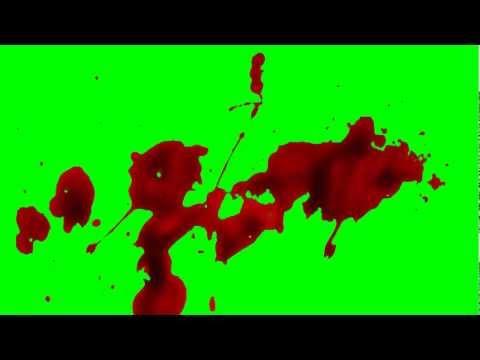 Blood Splatter (Green Screen HD)