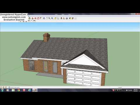 Sketchup House Tutorial PT. 12 (Front Windows & Front Door Creation & Installation)