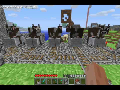 Minecraft : 73 TNT Animal Cannon; Space program