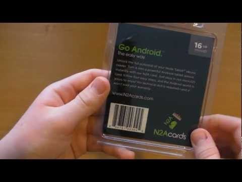 Unboxing - The N2A Card! Turn your Nook into a Real Android Tablet!