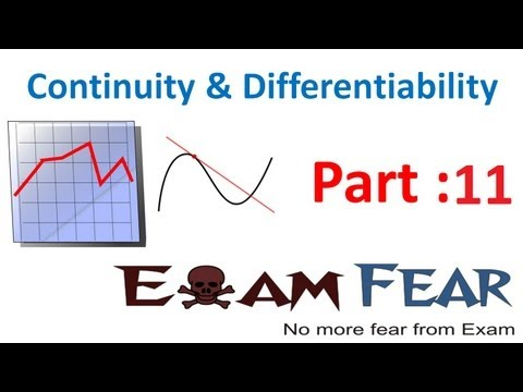 Maths Continuity & Differentiability part 11 (Algebra Continuous function) CBSE Mathematics XII 12