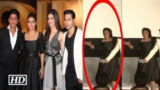 Kajol Falls From Stage At Dilwale Trailer Launch - Watch Video