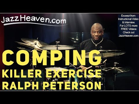Ralph Peterson *Jazz Drumming* Video: KILLER Comping & Syncopation Exercise JazzHeaven.com