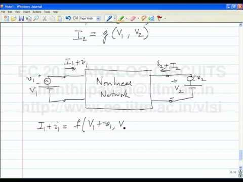 Lecture 4 - Networks with two terminal nonlinear elements,  nonlinear two port networks