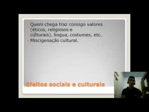 Os Fluxos Migratórios e os seus efeitos na produção e transformação das culturas - Parte 02