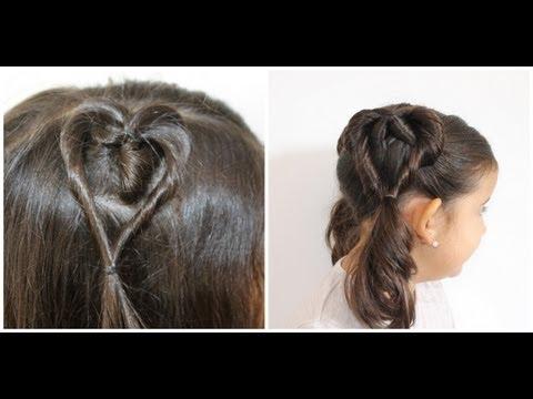 2 penteados de coração