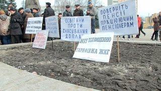 Митинг коммунистов в Житомире не обошелся без перебранки
