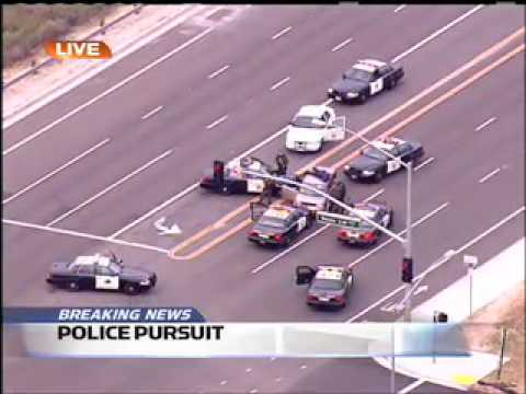 Crazy Orange County Police Pursuit