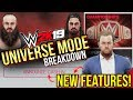 WWE 2K19 Universe Mode - NEW Features, New Animations, & Breakdown!