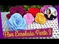 FLOR EM CROCHE ENROLADA - MODELO 1 - PARTE 3.wmv
