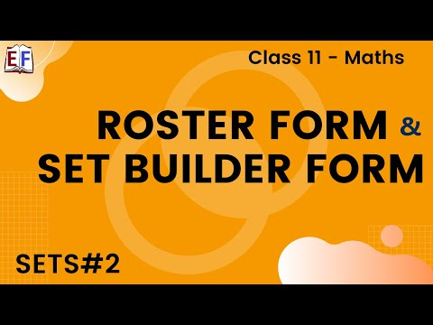 Maths Sets Mathematics CBSE Class X1 Part 2 (Roster form and set builder form)