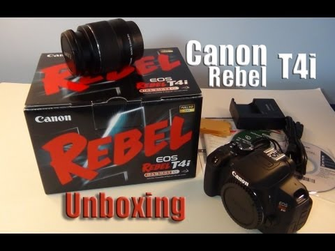 Canon EOS Rebel T4i Unboxing | Body + Lens 18-55mm | Canon 650D DSLR Camera Unboxing