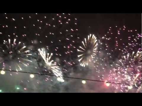 Full Video! London New Year's Eve Olympics Fireworks Display December 31st 2011 into 2012