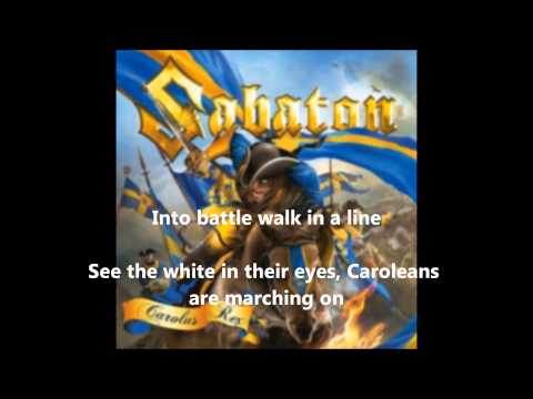 Sabaton-The Carolean's prayer (with lyrics in screen!!)