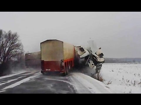 Зимние автомобильные аварии - Подборка февраль