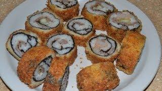 como hacer sushi frito.