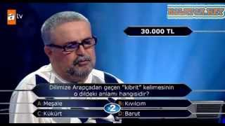 Kim Milyoner Olmak Ister 211. bölüm Ali Koparan 29.04.2013 Duygulanıp ağlayan yarışmacı
