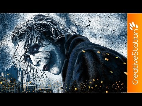Joker - Speed painting ( #Photoshop CS6 ) | CreativeStation