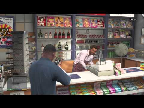 GTA 5 HOW TO ROB A CONVENIENT STORE / SHOP FOR QUICK AND EASY MONEY!
