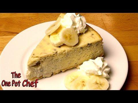 Banana Cream Pie Cheesecake | One Pot Chef