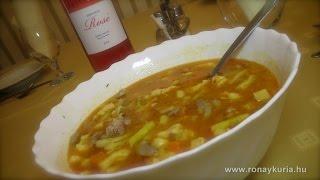 Hortobágyi csikósleves recept a Rónay Kúriából
