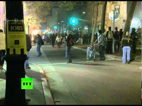 Oakland Occupied video: Flashbangs & tear gas at general strike