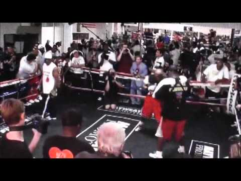 FLOYD MAYWEATHER MEDIA DAY: TRAINING 11 DAYS BEFORE MIGUEL COTTO FIGHT