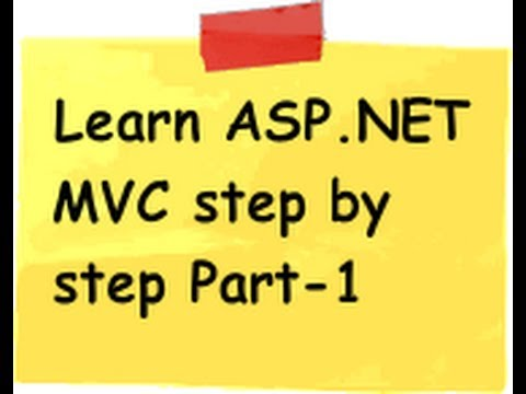 ASP.NET MVC Model view controller ( MVC) Step by Step  Part 1