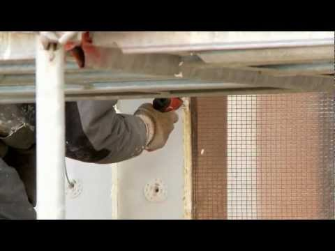 Polyurethanes Passive House - Installation of exterior wall insulation