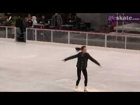 Sasha Cohen skates at Rockefeller Rink in New York City