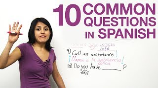 10 common questions in Spanish - YouTube