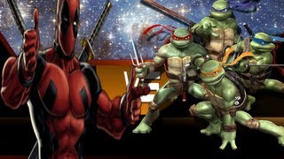 Deadpool vs The Teenage Muntant Ninja Turtles In An Epic Battle To The DEATH