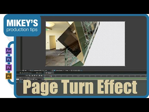 Page turn flip book in after effects