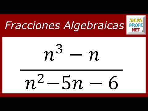 Simplificación de Fracciones Algebraicas