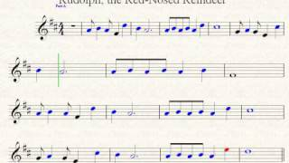 Rudolph The Red Nosed Reindeer Violin Sheet Music