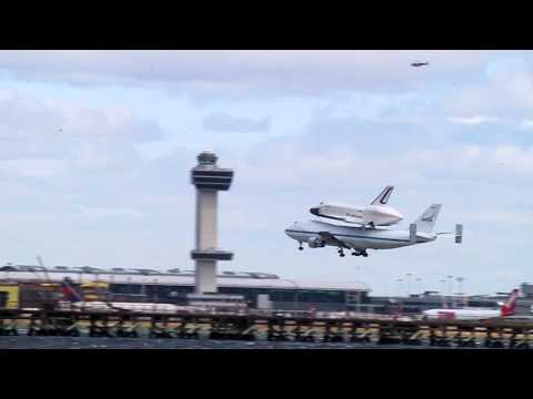 Space Shuttle Enterprise coming into JFK - April 27, 2012
