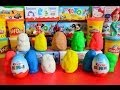 13 Play-Doh Kinder Surprise Disney Cars 2 Sponge Bob Peppa Pig Hello Kitty Hulk Surprise Eggs