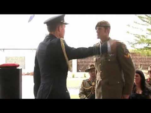 Corporal Benjamin Roberts-Smith receives his Victoria Cross for Australia