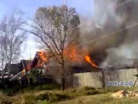 В Новодмитриевке сгорел жилой дом