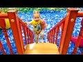 Кукла пупсик - День Рождения на детской площадке Весёлое видео для детей Влог от Насти