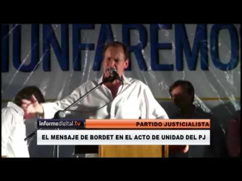 <b>Acto en Concepción del Uruguay.</b> Bordet llamó a la unidad del PJ