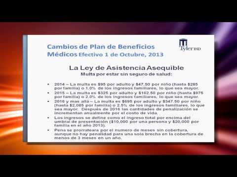 Employee Health Insurance Spanish Video for 2013-2014