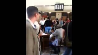 Taranto. Consiglio comunale sospeso 22 maggio. Il momento dell'occupazione
