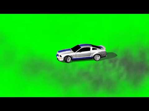 Car drive makes burnout and drift in circle - green screen effects -KM-rDSE5OzY